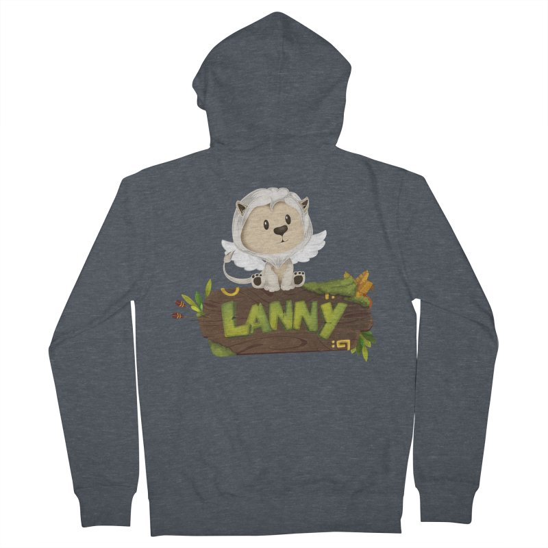 Lanny the Lion Women's French Terry Zip-Up Hoody by Mimundogames's Artist Shop