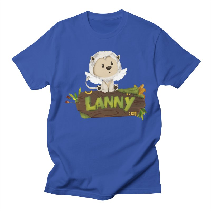 Lanny the Lion Women's Regular Unisex T-Shirt by Mimundogames's Artist Shop