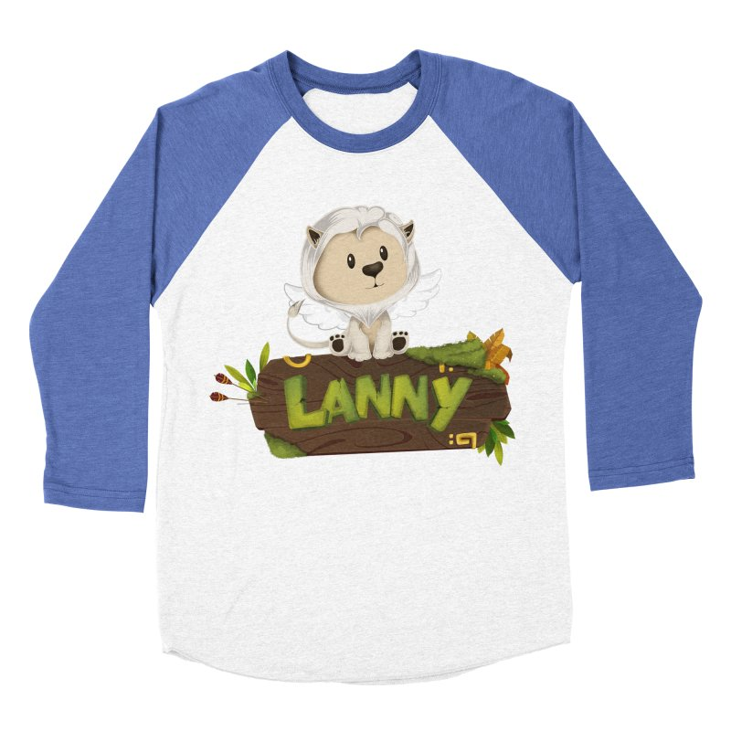 Lanny the Lion Women's Baseball Triblend Longsleeve T-Shirt by Mimundogames's Artist Shop