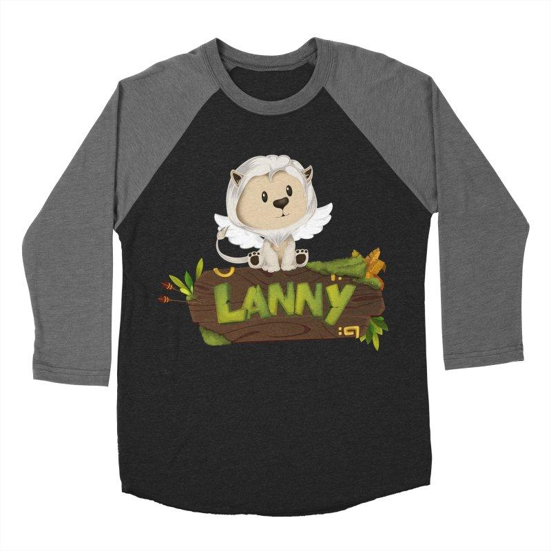 Lanny the Lion Women's Baseball Triblend Longsleeve T-Shirt by Mimundogames's Artist Shop