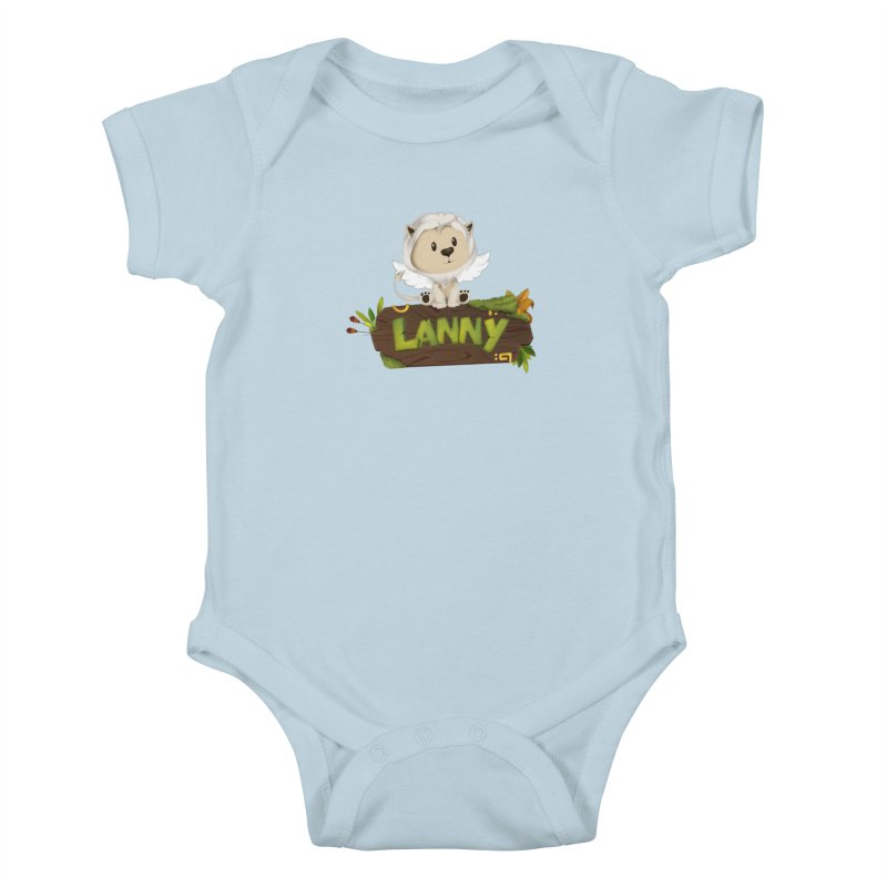 Lanny the Lion Kids Baby Bodysuit by Mimundogames's Artist Shop
