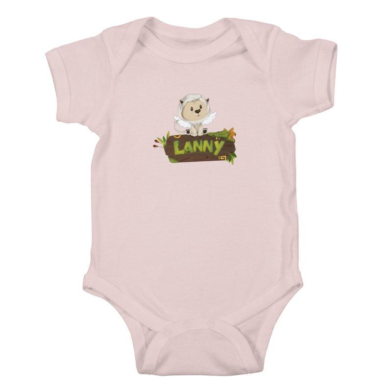 Lanny the Lion Kids Baby Bodysuit by Mimundogames's Artist Shop