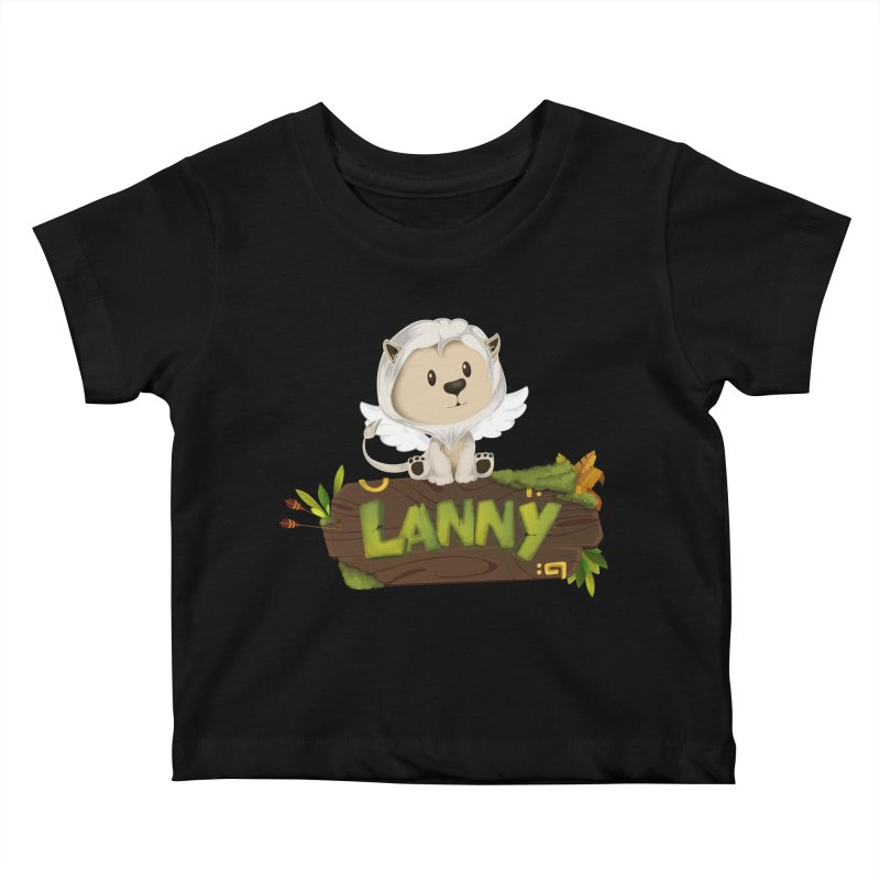 Lanny the Lion Kids Baby T-Shirt by Mimundogames's Artist Shop