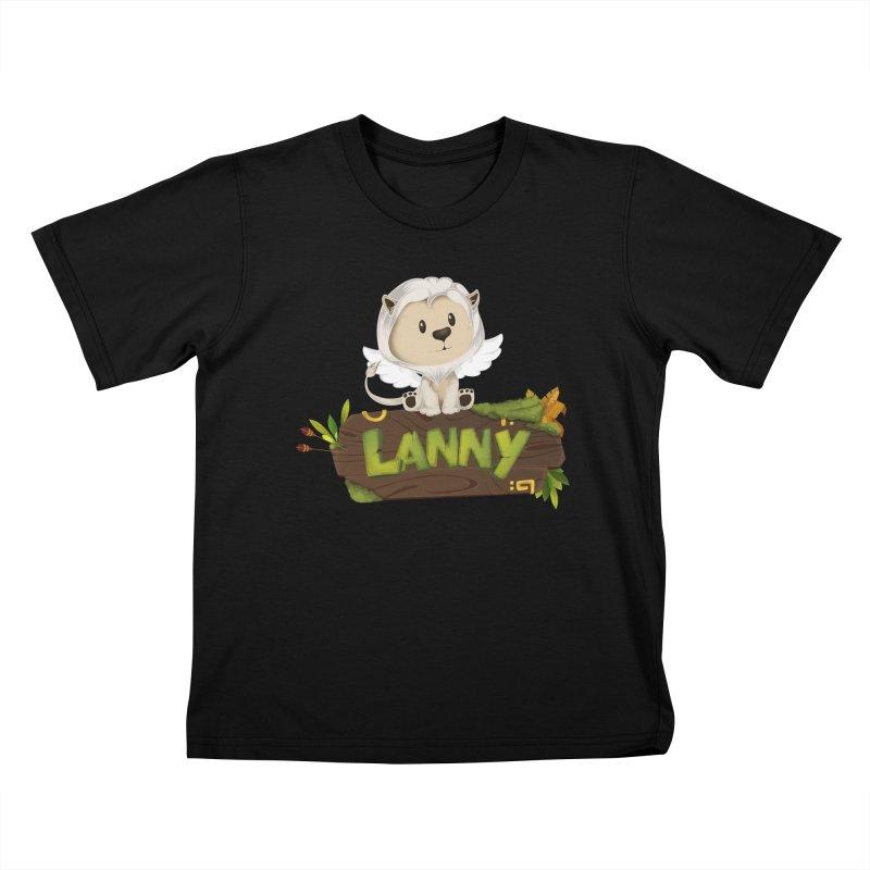 Lanny the Lion Kids T-Shirt by Mimundogames's Artist Shop