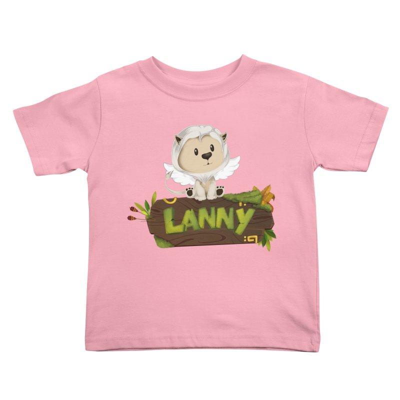 Lanny the Lion Kids Toddler T-Shirt by Mimundogames's Artist Shop