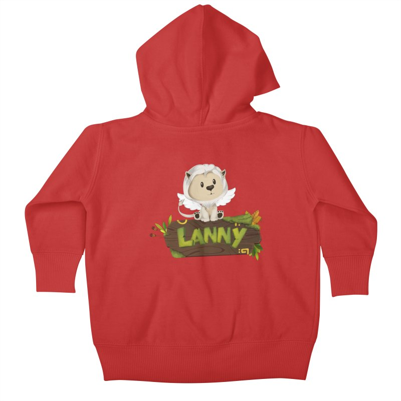 Lanny the Lion Kids Baby Zip-Up Hoody by Mimundogames's Artist Shop