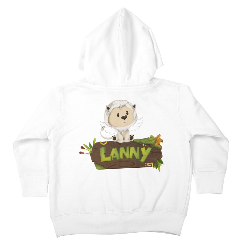 Lanny the Lion Kids Toddler Zip-Up Hoody by Mimundogames's Artist Shop