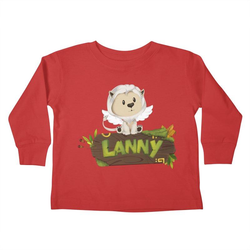 Lanny the Lion Kids Toddler Longsleeve T-Shirt by Mimundogames's Artist Shop