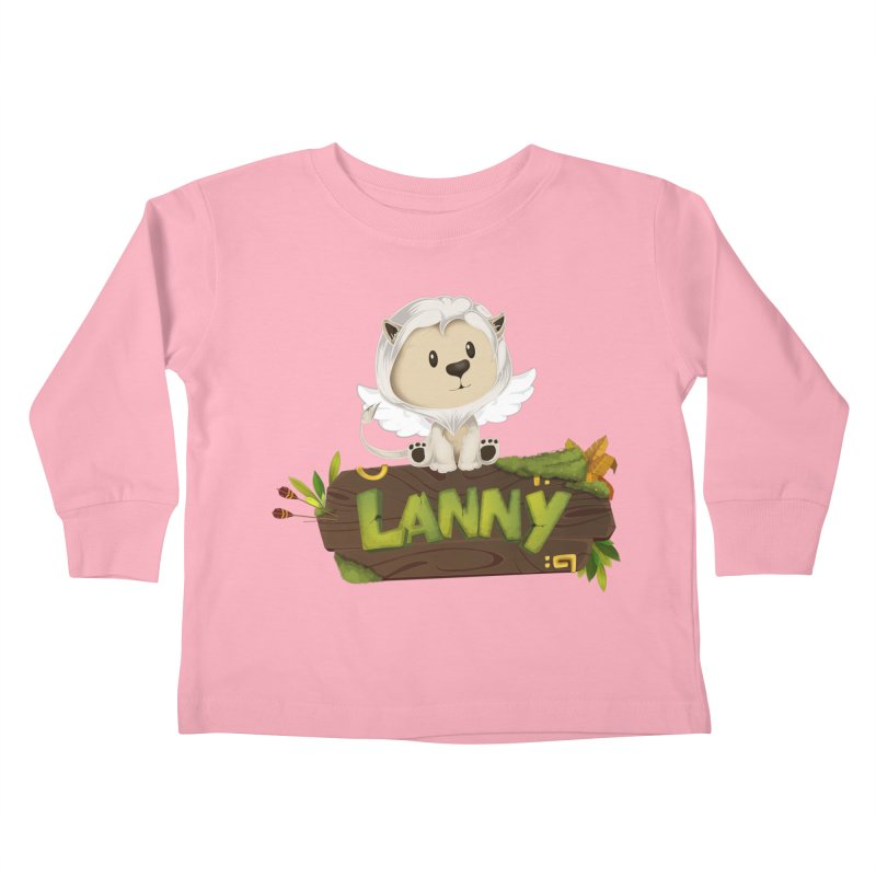Lanny the Lion Kids Toddler Longsleeve T-Shirt by Mimundogames's Artist Shop