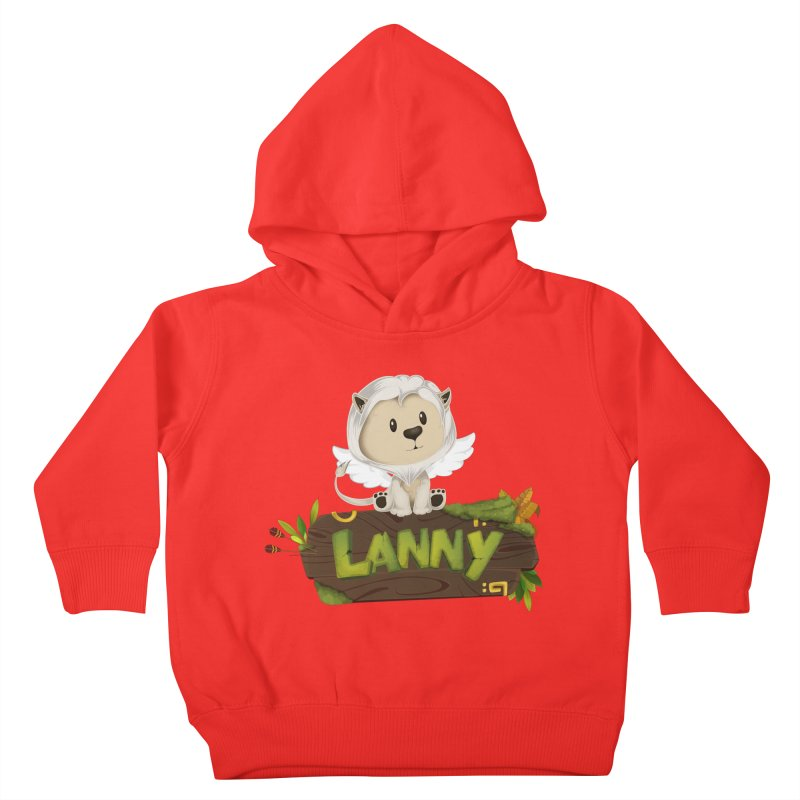Lanny the Lion Kids Toddler Pullover Hoody by Mimundogames's Artist Shop