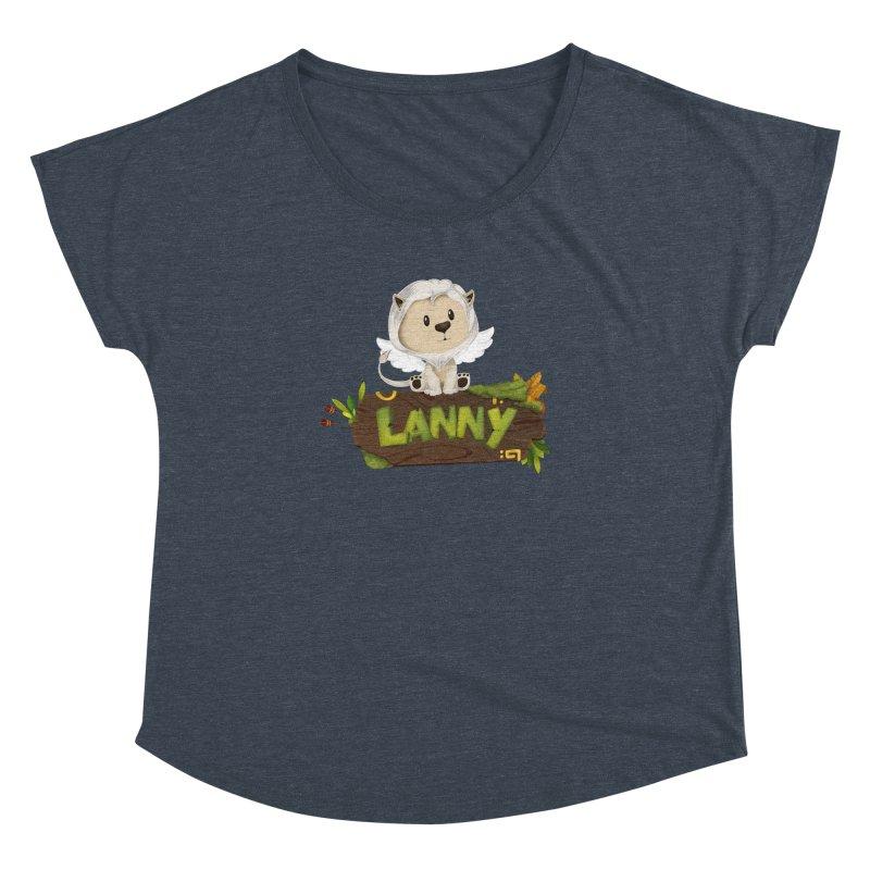 Lanny the Lion Women's Dolman Scoop Neck by Mimundogames's Artist Shop