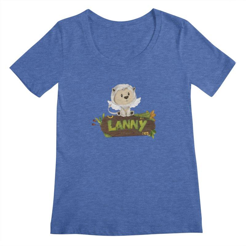 Lanny the Lion Women's Regular Scoop Neck by Mimundogames's Artist Shop