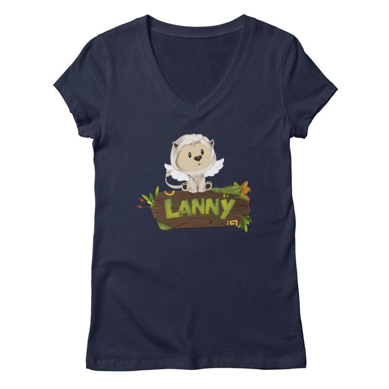 Lanny the Lion Women's Regular V-Neck by Mimundogames's Artist Shop