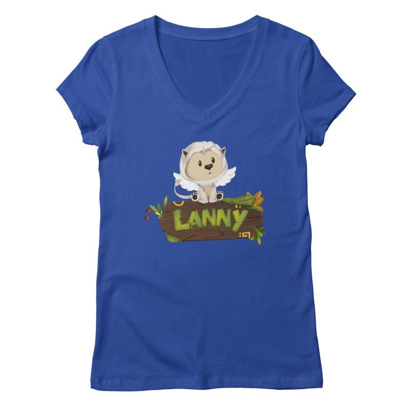 Lanny the Lion Women's V-Neck by Mimundogames's Artist Shop