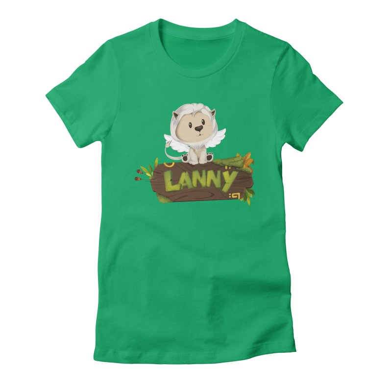 Lanny the Lion Women's Fitted T-Shirt by Mimundogames's Artist Shop