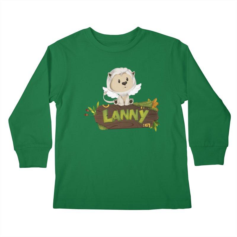 Lanny the Lion Kids Longsleeve T-Shirt by Mimundogames's Artist Shop