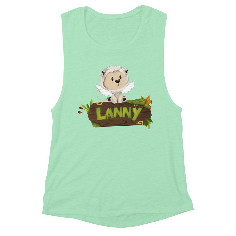 Lanny the Lion Women's Muscle Tank by Mimundogames's Artist Shop