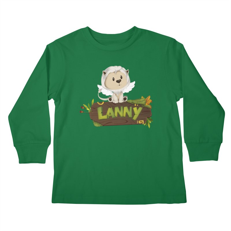 Lanny the Lion Kids Longsleeve T-Shirt by Mimundogames's Artist Shop