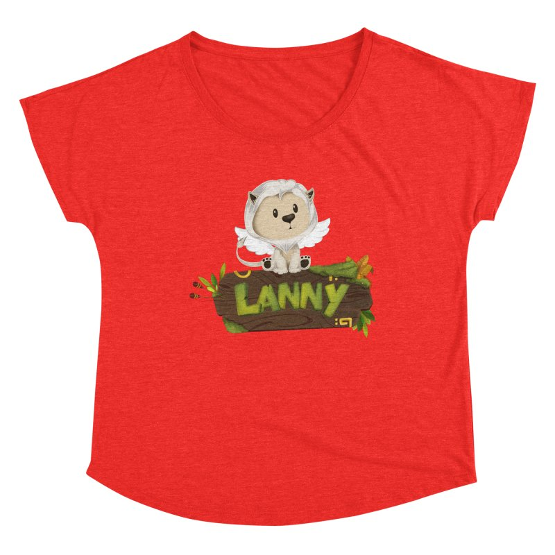 Lanny the Lion Women's Scoop Neck by Mimundogames's Artist Shop