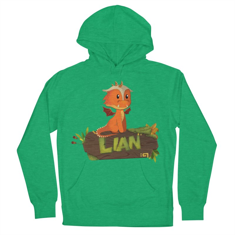 Lian the Dragon Women's French Terry Pullover Hoody by Mimundogames's Artist Shop