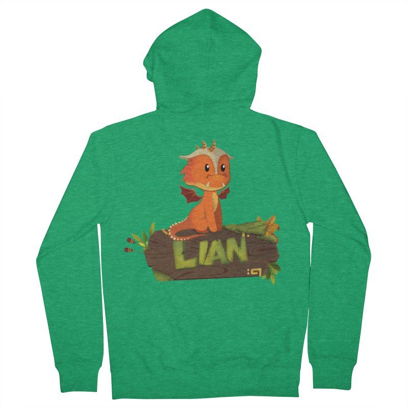 Lian the Dragon Women's Zip-Up Hoody by Mimundogames's Artist Shop