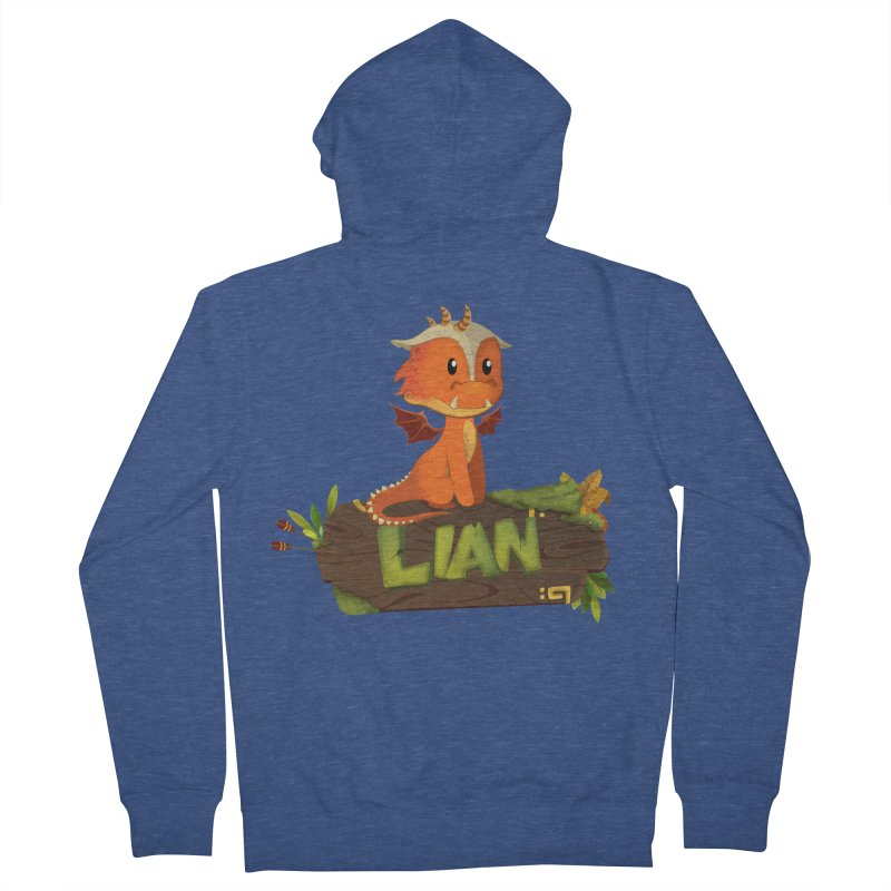 Lian the Dragon Women's French Terry Zip-Up Hoody by Mimundogames's Artist Shop