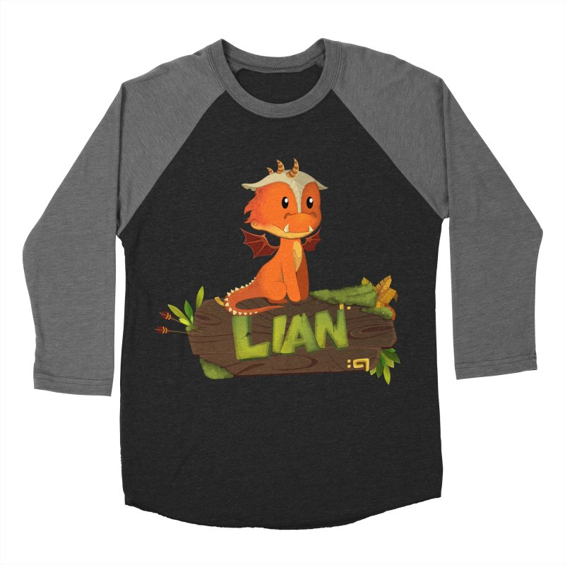 Lian the Dragon Women's Baseball Triblend Longsleeve T-Shirt by Mimundogames's Artist Shop