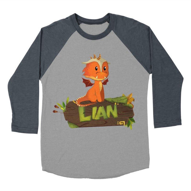 Lian the Dragon Women's Baseball Triblend Longsleeve T-Shirt by Mimundogames's Artist Shop