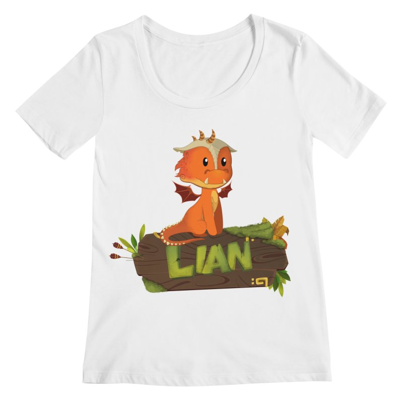Lian the Dragon Women's Regular Scoop Neck by Mimundogames's Artist Shop