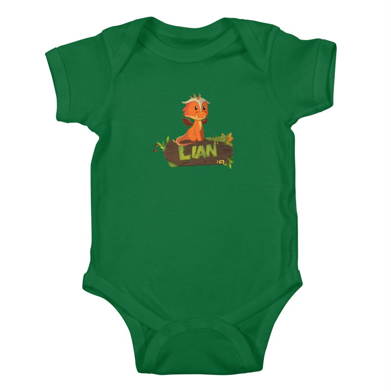 Lian the Dragon Kids Baby Bodysuit by Mimundogames's Artist Shop