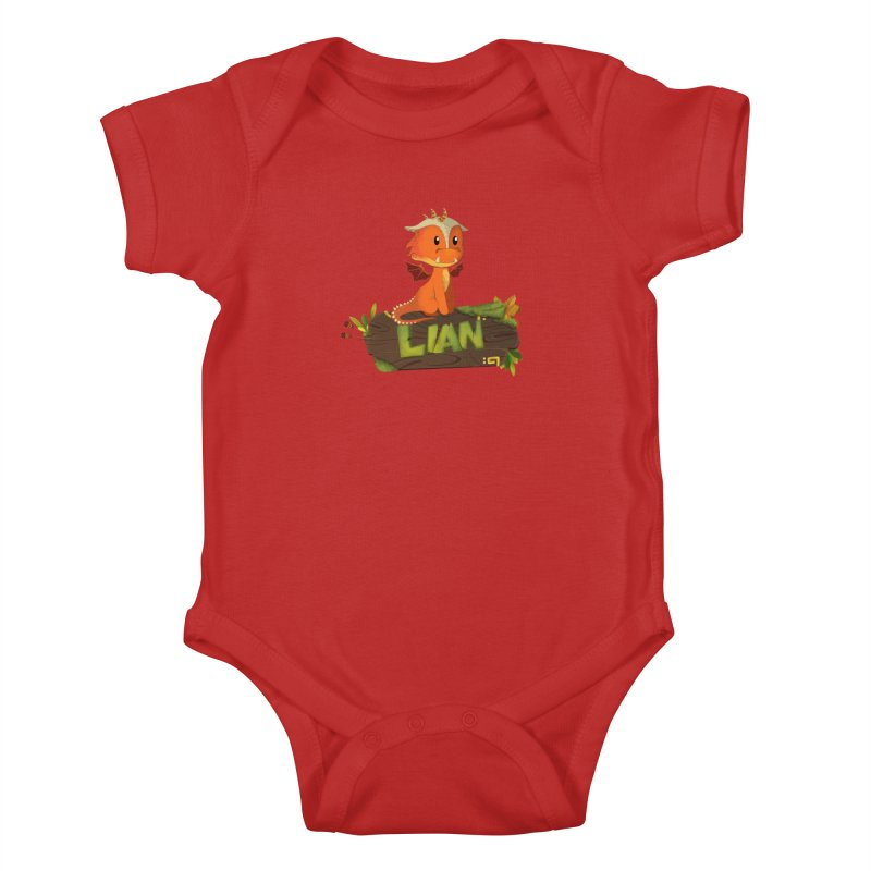 Lian the Dragon Kids Baby Bodysuit by Mimundogames's Artist Shop