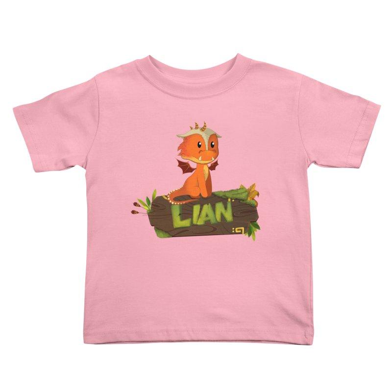 Lian the Dragon Kids Toddler T-Shirt by Mimundogames's Artist Shop