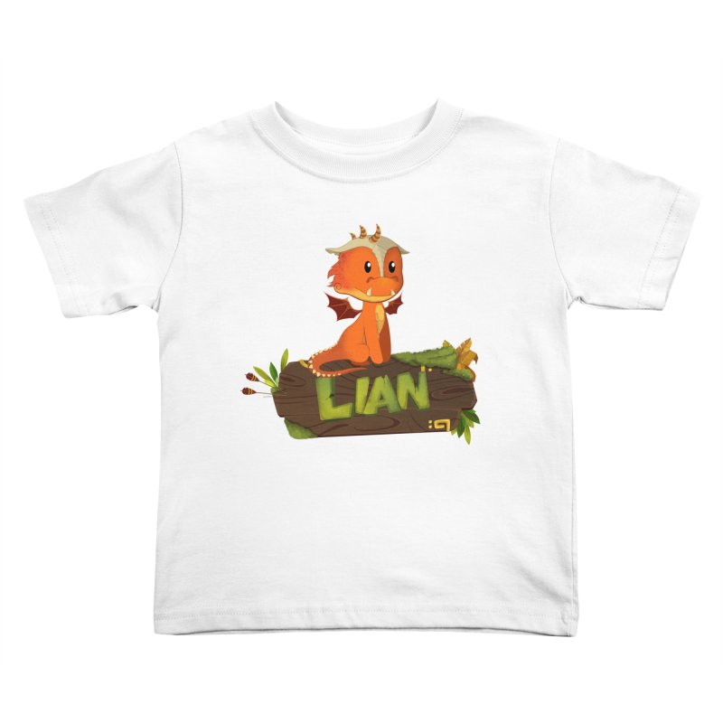 Lian the Dragon Kids Toddler T-Shirt by Mimundogames's Artist Shop