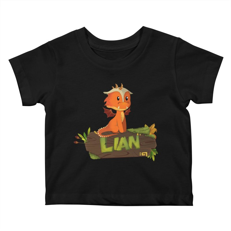 Lian the Dragon Kids Baby T-Shirt by Mimundogames's Artist Shop