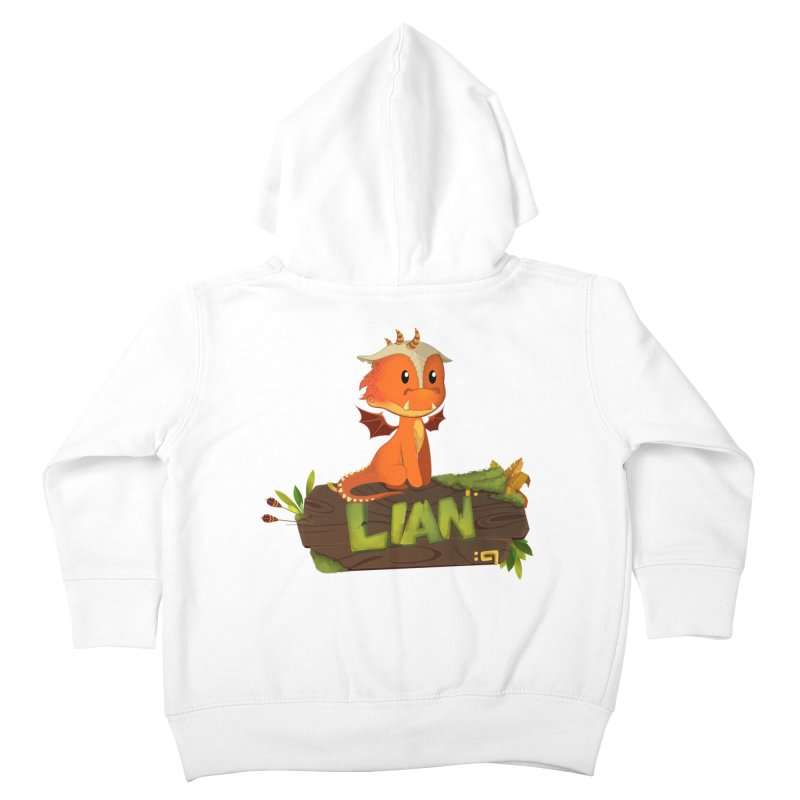 Lian the Dragon Kids Toddler Zip-Up Hoody by Mimundogames's Artist Shop