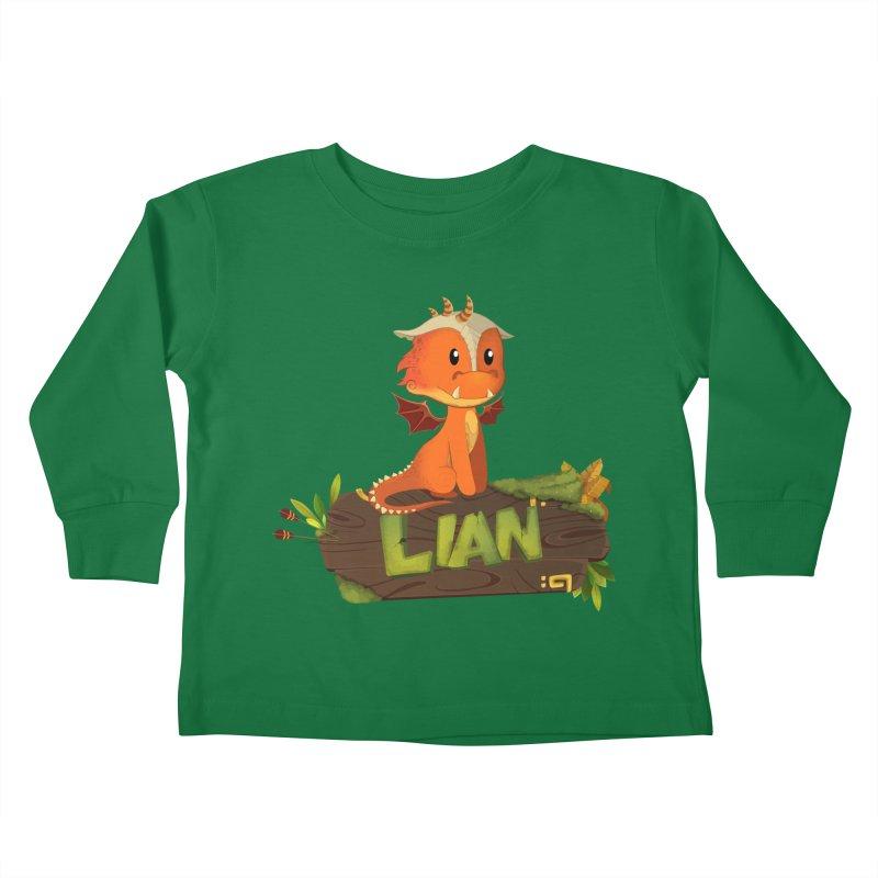Lian the Dragon Kids Toddler Longsleeve T-Shirt by Mimundogames's Artist Shop