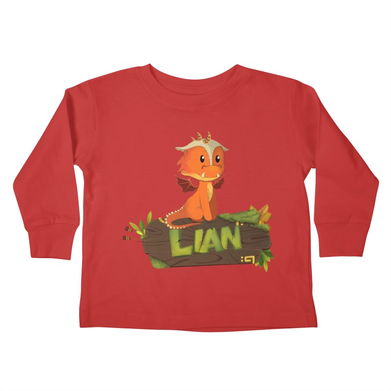 Lian the Dragon Kids Toddler Longsleeve T-Shirt by Mimundogames's Artist Shop