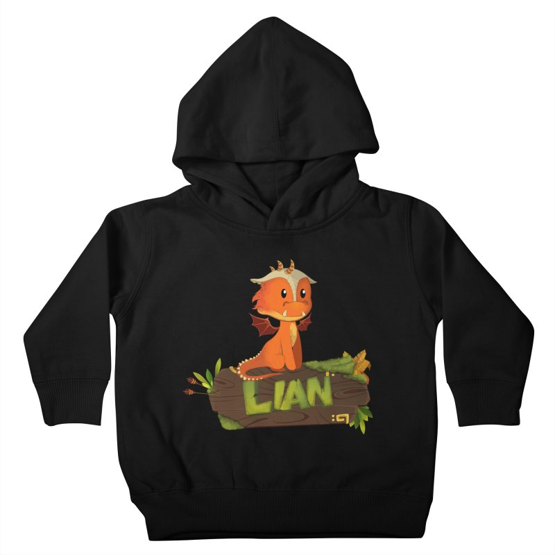 Lian the Dragon Kids Toddler Pullover Hoody by Mimundogames's Artist Shop