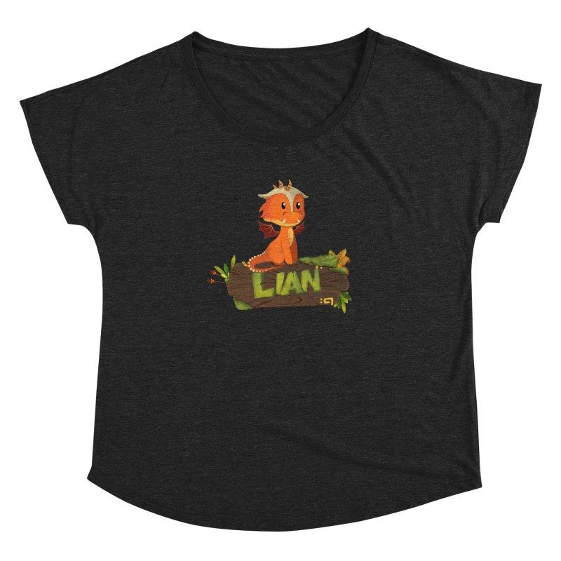 Lian the Dragon Women's Dolman Scoop Neck by Mimundogames's Artist Shop