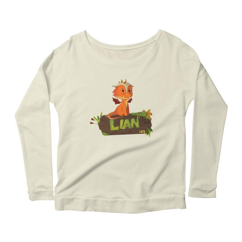 Lian the Dragon Women's Scoop Neck Longsleeve T-Shirt by Mimundogames's Artist Shop