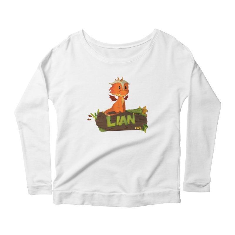 Lian the Dragon Women's Scoop Neck Longsleeve T-Shirt by Mimundogames's Artist Shop