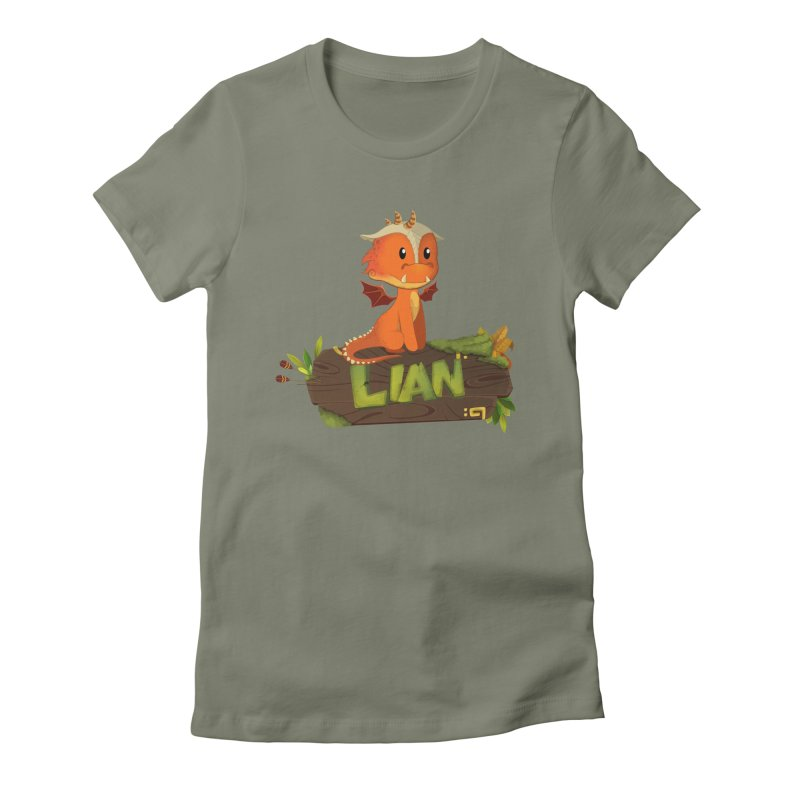 Lian the Dragon Women's Fitted T-Shirt by Mimundogames's Artist Shop