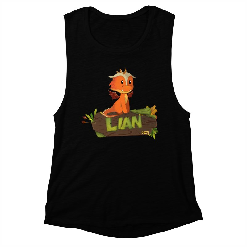 Lian the Dragon Women's Muscle Tank by Mimundogames's Artist Shop