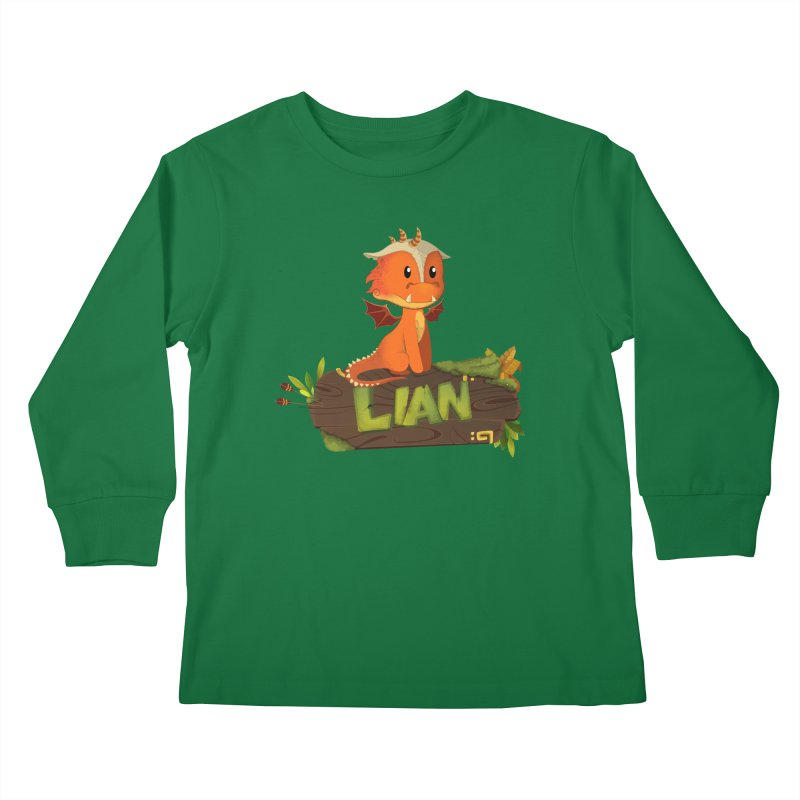 Lian the Dragon Kids Longsleeve T-Shirt by Mimundogames's Artist Shop