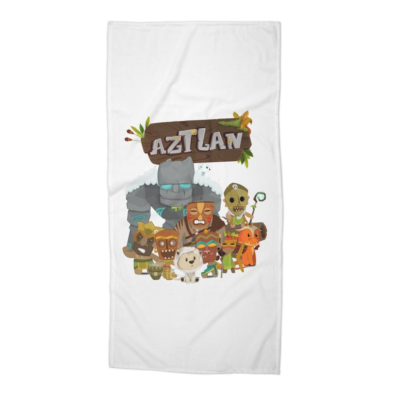 Aztlan - All Characters Accessories Beach Towel by Mimundogames's Artist Shop