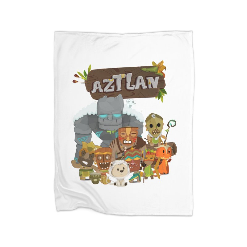 Aztlan - All Characters Home Fleece Blanket Blanket by Mimundogames's Artist Shop