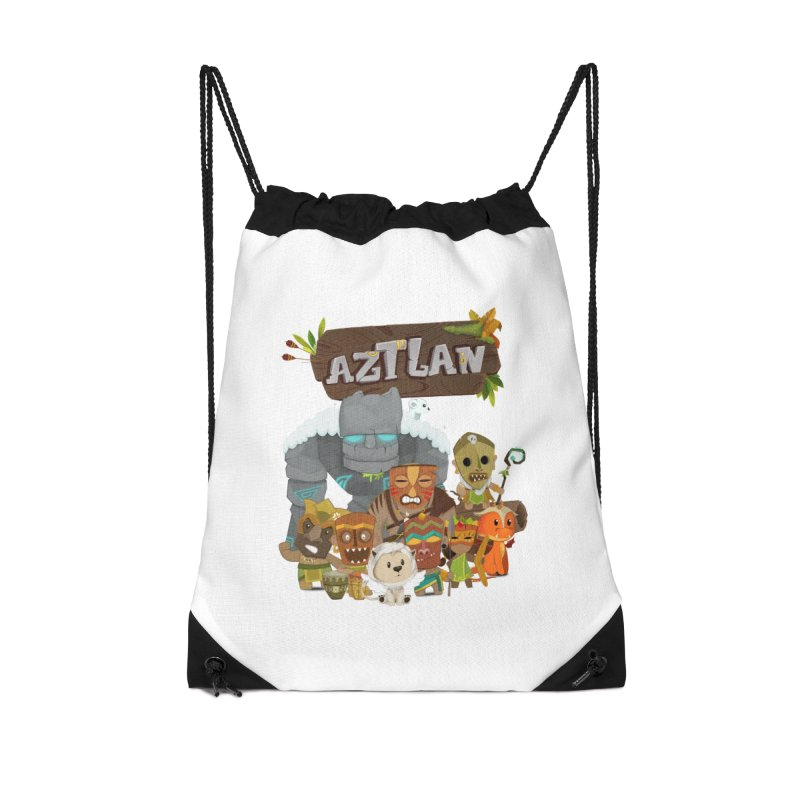 Aztlan - All Characters Accessories Drawstring Bag Bag by Mimundogames's Artist Shop