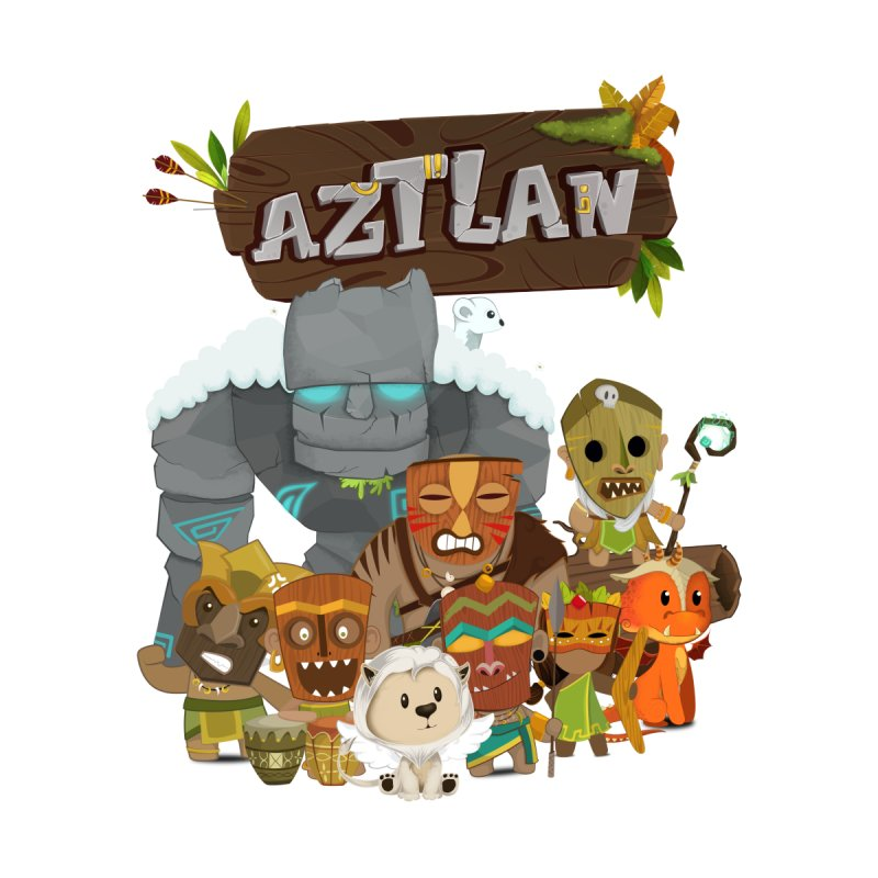 Aztlan - All Characters Home Mounted Aluminum Print by Mimundogames's Artist Shop