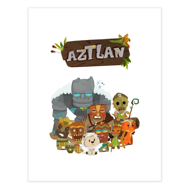 Aztlan - All Characters Home Fine Art Print by Mimundogames's Artist Shop