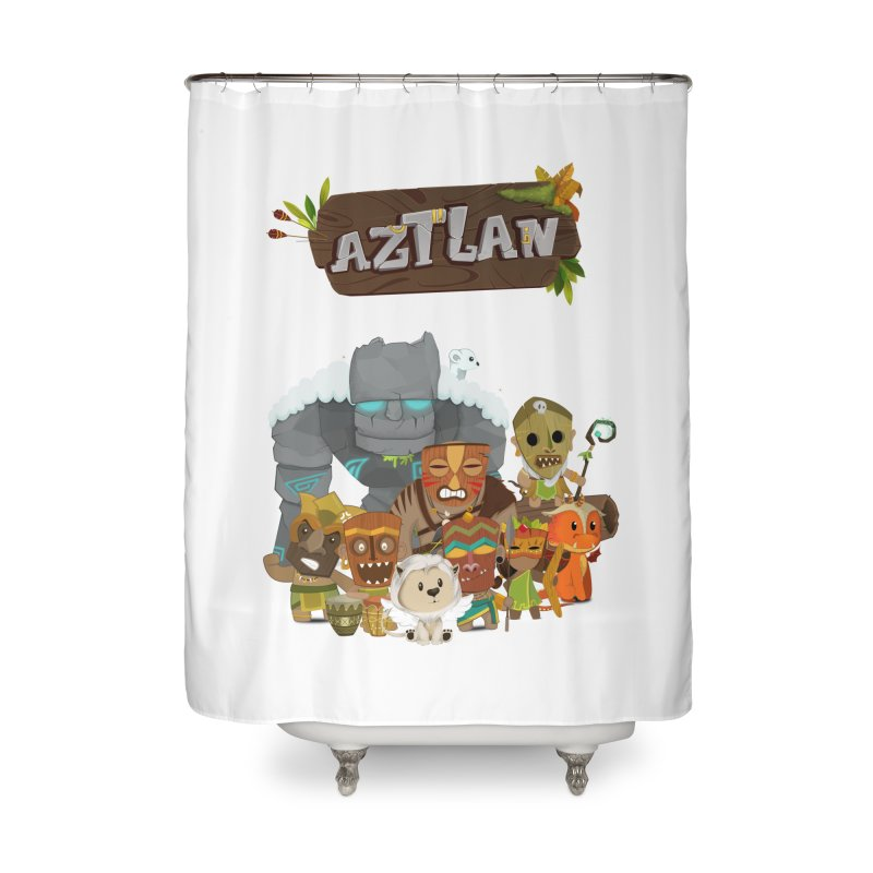 Aztlan - All Characters Home Shower Curtain by Mimundogames's Artist Shop